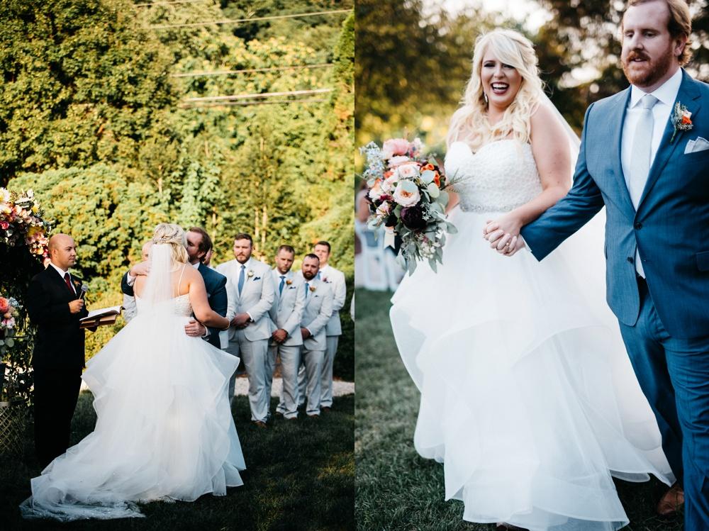 wedding ceremony photos in West Virginia