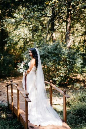 wv bridal portrait at four fillies lodge