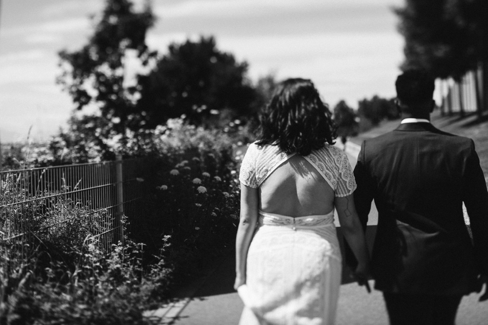 wedding portraits in olympic sculpture park