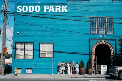 sodo district wedding portraits in seattle washington