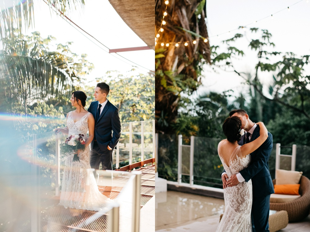 couples wedding portraits at casa fantastic in costa rica