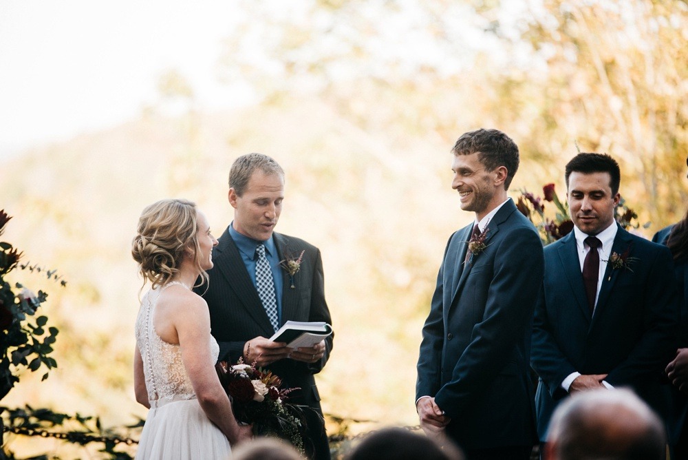 wv wedding ceremony at the confluence resort