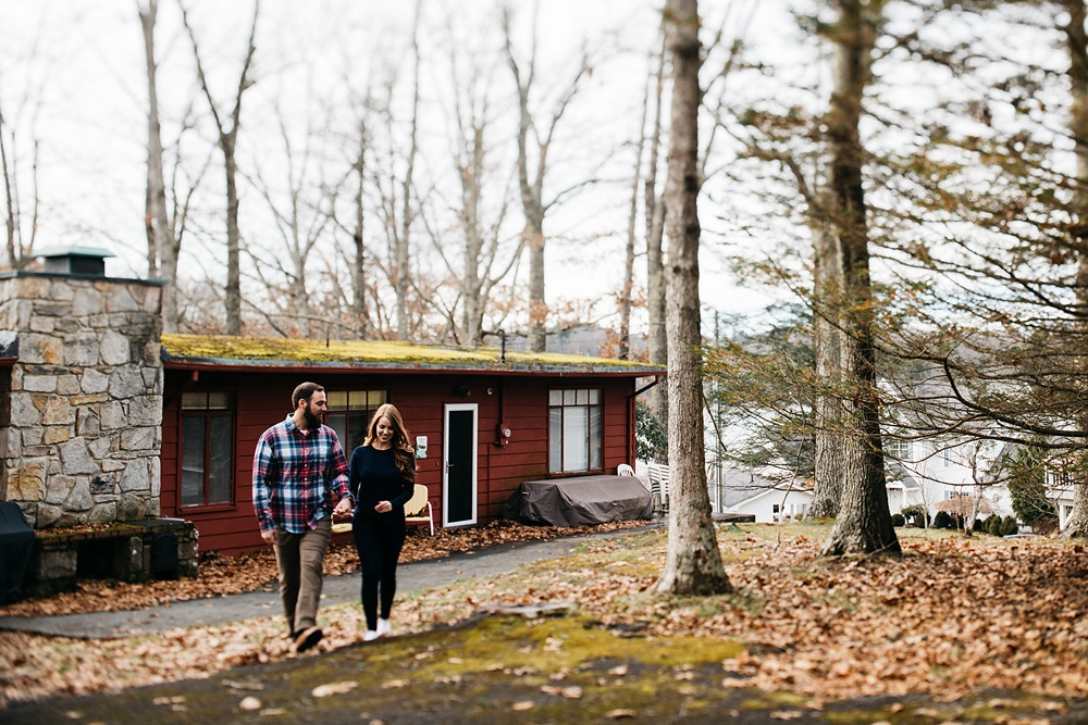 lakeside engagement session in west virginia