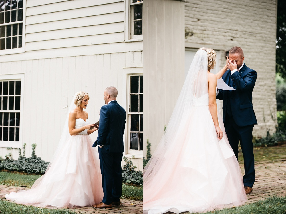 rustic wedding at farmington plantation in louisville, ky