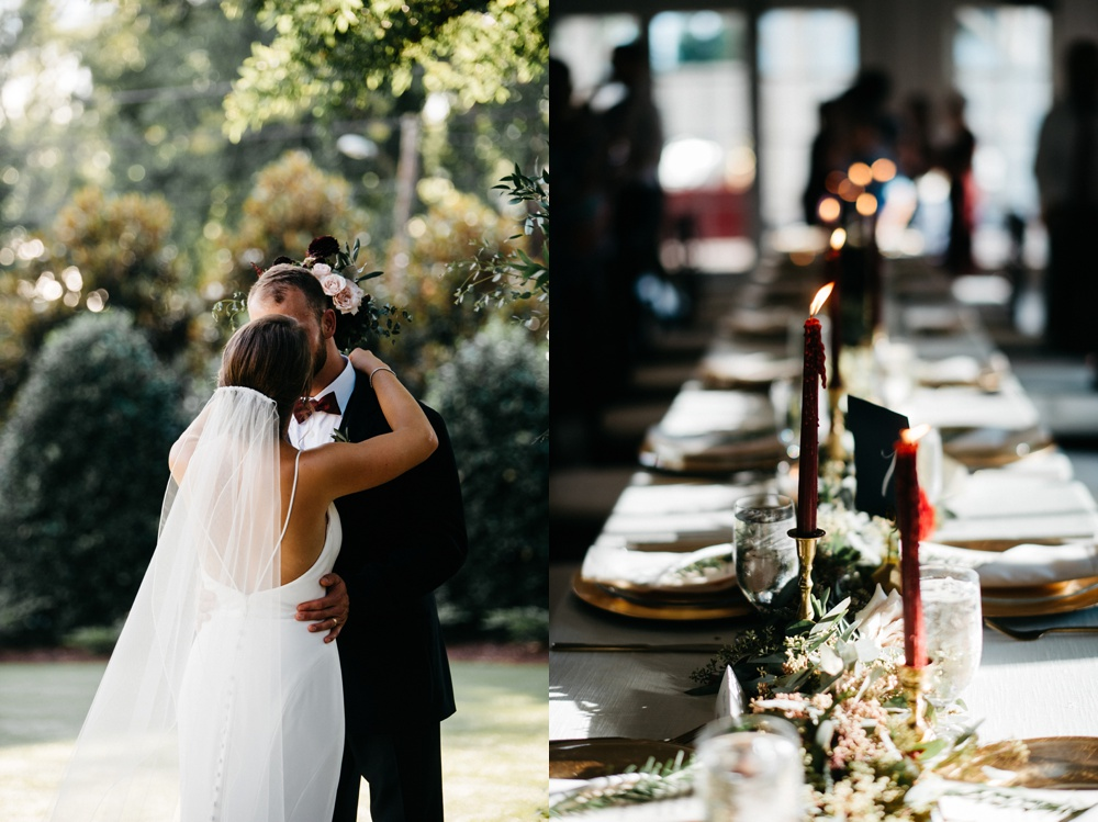 romantic wedding at the merrimon-wynne in raleigh, nc