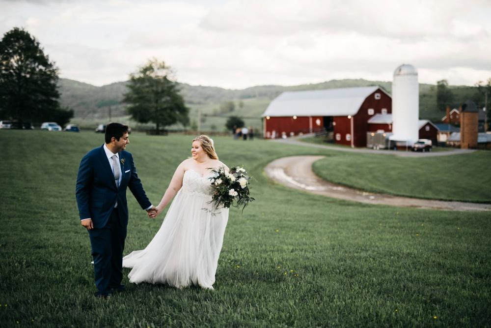 valley view farm wedding in lewisburg, west virginia