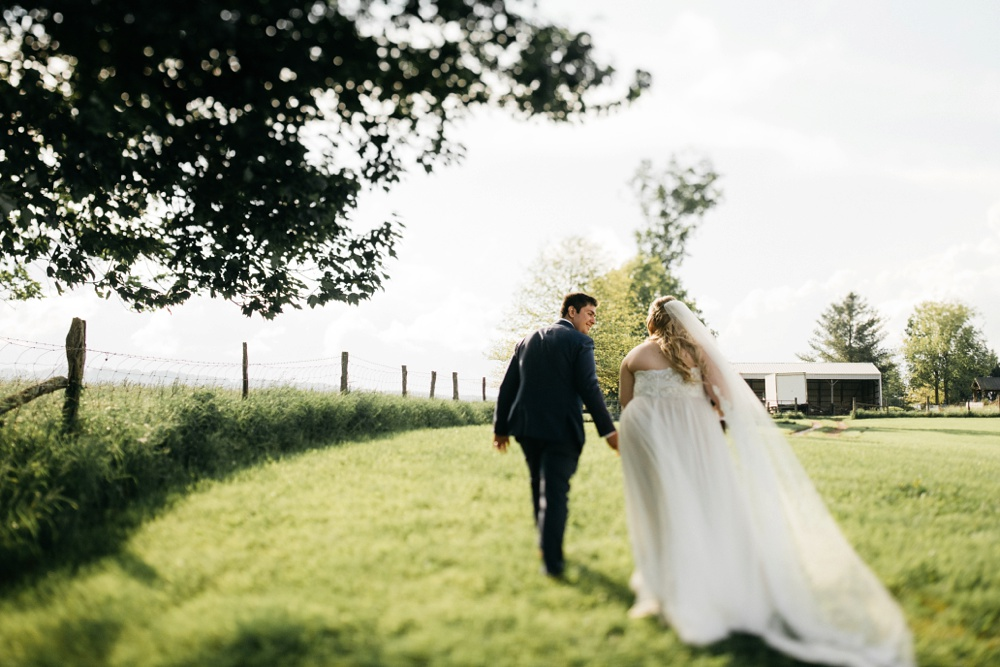 wedding at valley view farm in lewisburg, WV