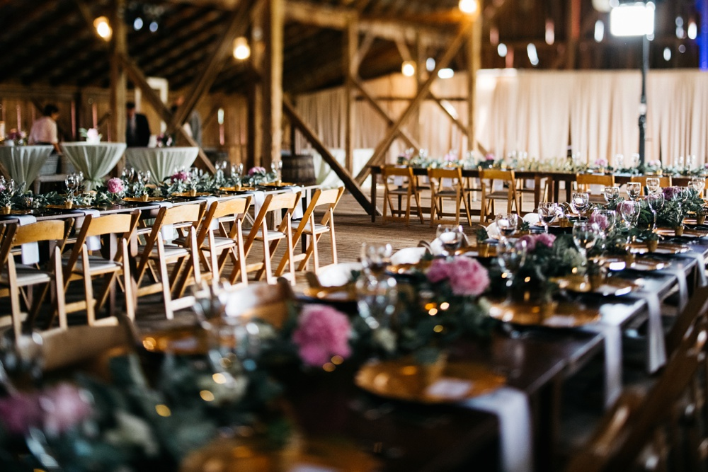 wedding reception photo at valley view farm