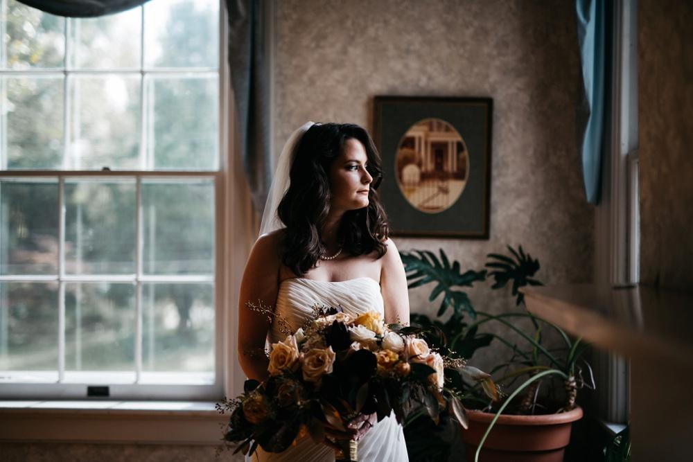 fall ohio wedding photo