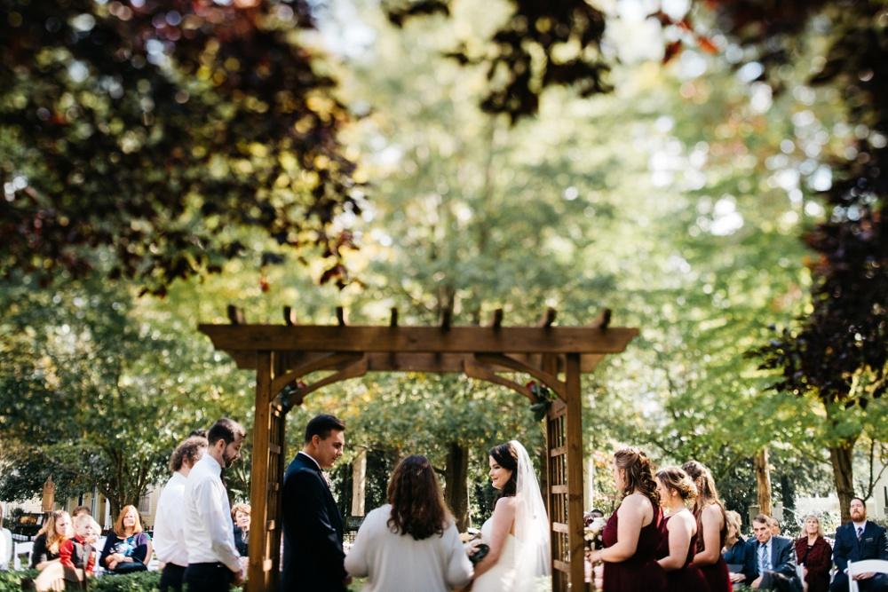 french art colony wedding photo