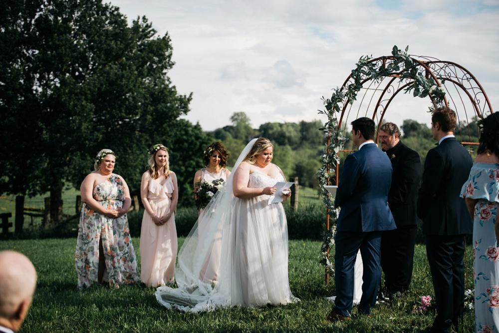 wv wedding at valley view farm in lewisburg, wv