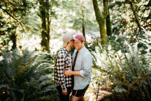 seattle hiking engagement session