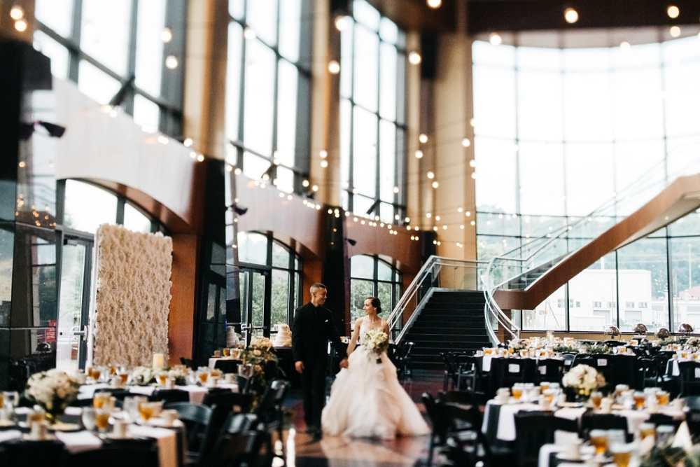 charleston west virginia wedding at the clay center
