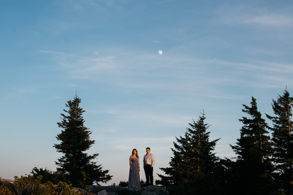 engagement portraits taken at dolly sods