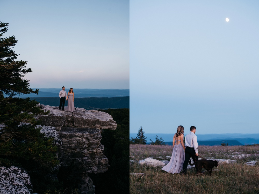 twilight engagement session at dolly sods