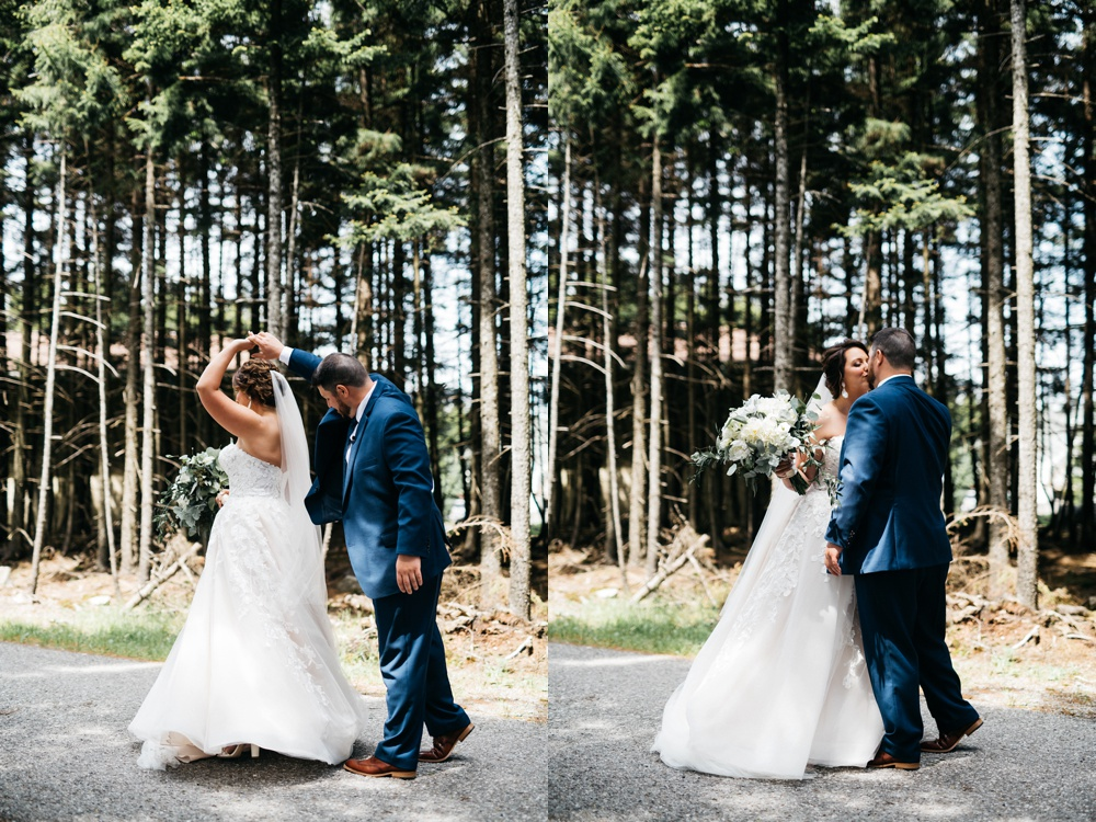 first look wedding photo snowshoe resort