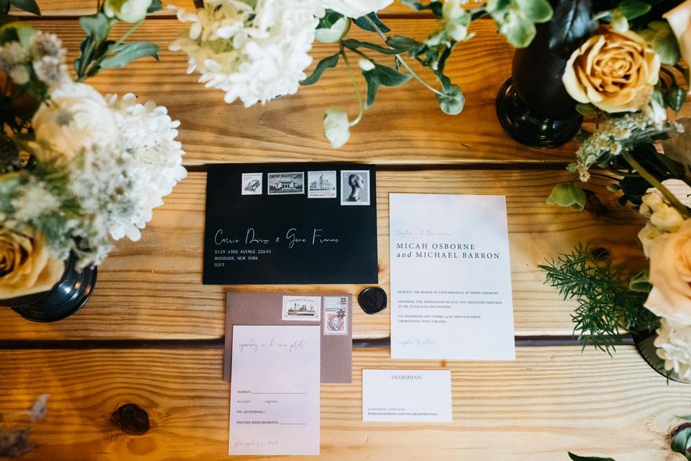 gothic-inspired wedding photos taken in charleston wv