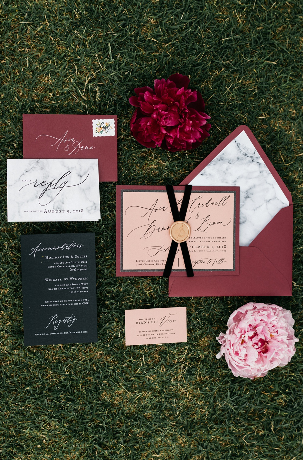 harless printing company wedding invitation suite photo