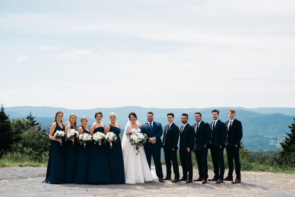snowshoe wedding photos