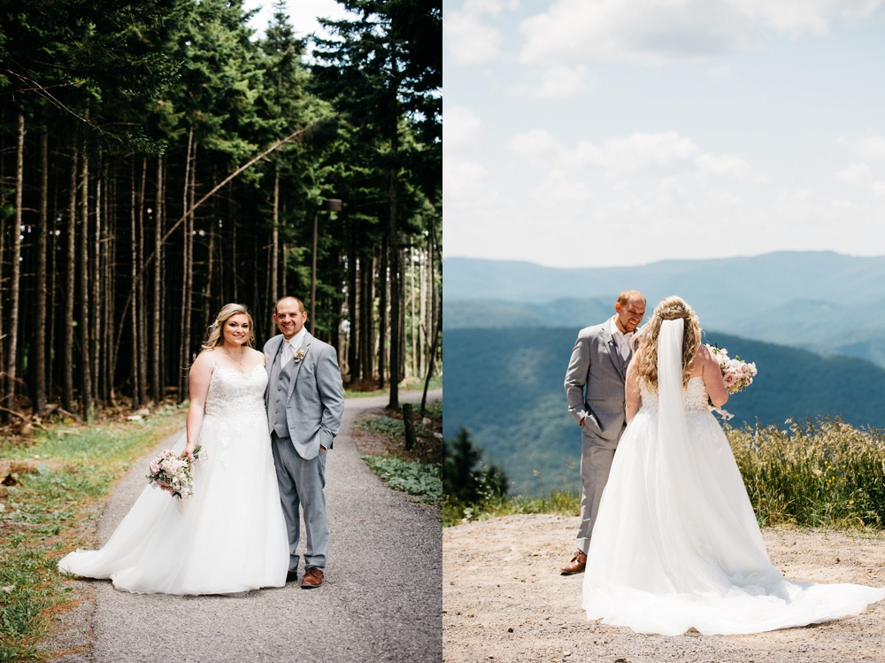 snowshoe resort wedding photography