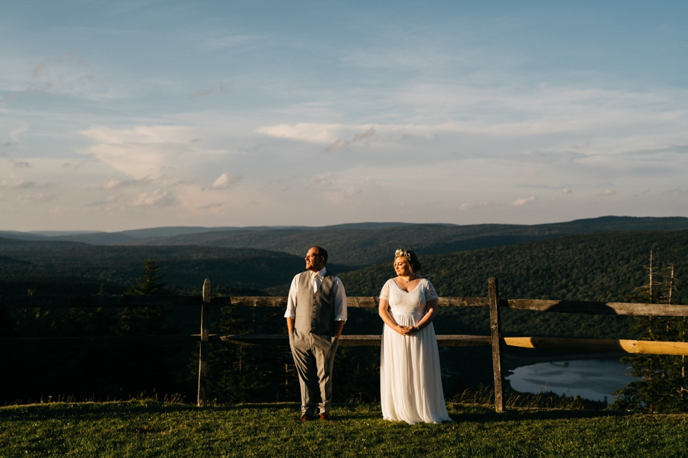 snowshoe resort wedding photo