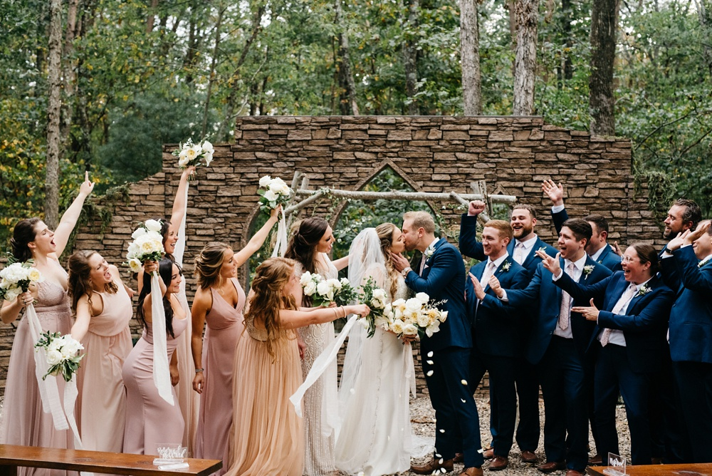 wv wedding at four fillies lodge