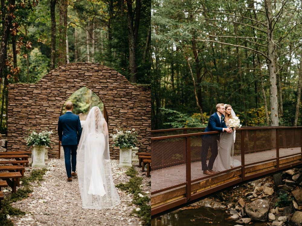 wedding photos taken at four fillies lodge in southern wv