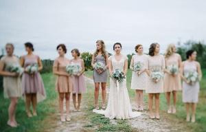 west virginia wedding party photo