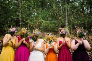 cheat lake bridal party photo