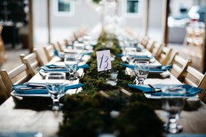 vintage and moss wedding detail photo