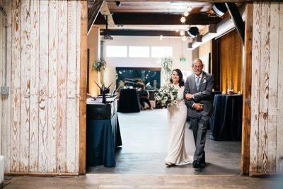 wedding ceremony at withinsodo in seattle washington