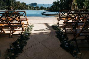 wedding ceremony at casa fantastica costa rica