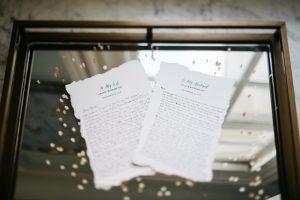 wedding detail by harless printing company