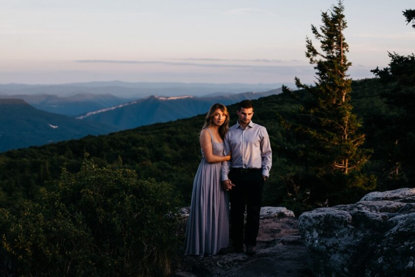Twilight Engagement Photos at Dolly Sods